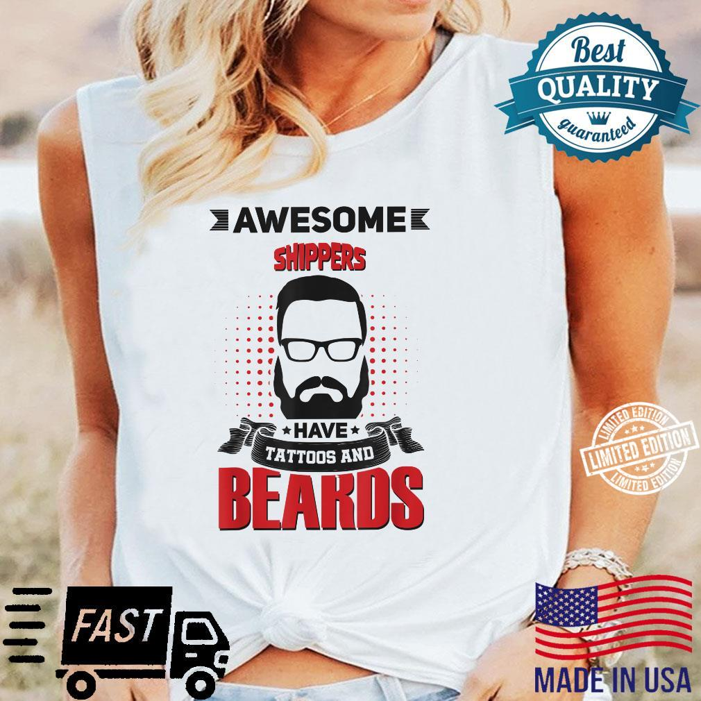 Wh Awesome Shippers Tattoo Beard Shirt long sleeved